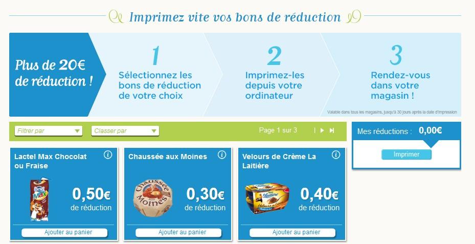Coupons de reduction alimentaire en pdf gratuit